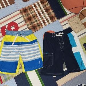 Boys bathing suits Lot of 2 Nautica Size S/P 8